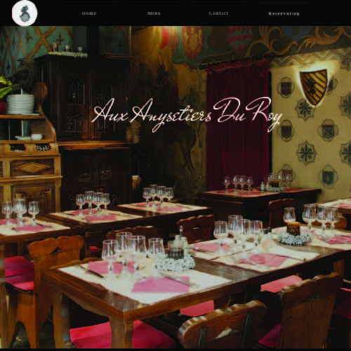 Anysetiers du Roy website Snapshot
